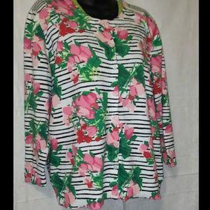 📚 Merona Cardigan Plus Size Floral Sweater